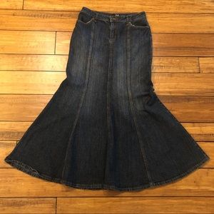 a.n.a Denim Skirt Full Length Mermaid Blue Jean